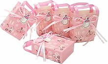 JZK 24 x Rosa bustine Confetti Carta Buste