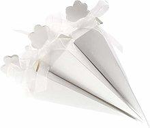 JZK 50 Bianco cono portariso scatola portaconfetti