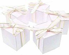 JZK 50 Cubo Bianca Scatola portaconfetti scatolina