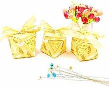 JZK 50 Forma Diamante Giallo Oro Scatola