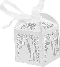 JZK 50 Perlato Bianco Sposa Sposo scatolina