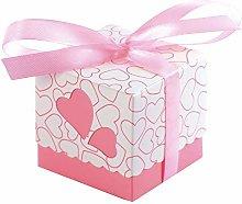 JZK 50 Rosa cuore scatola portaconfetti scatolina