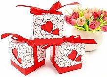 JZK 50 Rosso cuore scatola portaconfetti scatolina