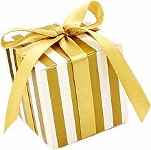 JZK 50 Striscia bianco oro scatola portaconfetti