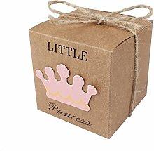JZK 50 x Little Princess Marrone Carta Kraft