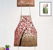 JZZCIDGa Grembiule da Cucina Fiore Rosa Cucina da