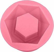 Kacniohen Mold Hexagon Flower Pot in Silicone,