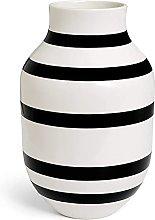 Kähler Omaggio - Vaso in porcellana a righe,