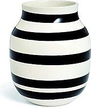 Kähler Omaggio - Vaso in porcellana con strisce