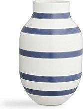 Kähler, vaso Omaggio, Porcellana, Blu, 30,5 cm