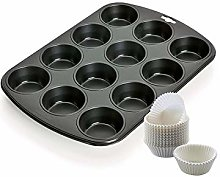 Kaiser 2300754673 - Stampo per muffin, in acciaio