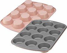 Kaiser EverCream Colors - Teglia per 12 muffin, 38