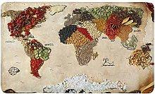 Kanaite Mappa Mondo Realizzata con Diversi Tipi di