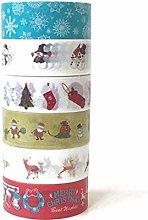 KANGIRU Merry Christmas Series of Masking Tape Set