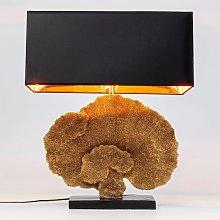 KARE Coral lampada da tavolo paralume tessuto