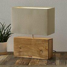 KARE Rectangular Wood lampada da tavolo base legno