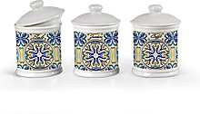 Kasahome Tris di Barattoli in Ceramica stile