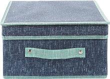 Kasanova - Scatola armadio 28x33x15 cm Maureen blu