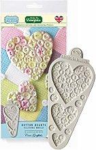 Katy Sue Button Hearts Stampo in Silicone
