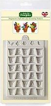 Katy Sue Designs Alpha Pots - Stampo in silicone