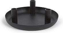 Kave Home - Candelabro Eire di metallo nero 8 cm