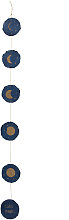 Kave Home - Ghirlanda Astrea fasi lunari sfondo blu