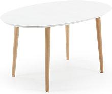 Kave Home - Oqui tavolo allungabile ovale 140-220