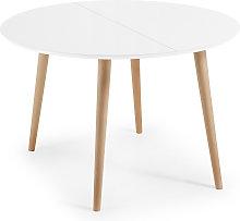 Kave Home - Oqui tavolo allungabile rotondo 120