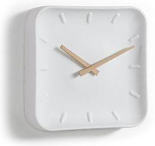 Kave Home - Orologio da parete quadrato Wana 26 x