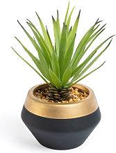 Kave Home - Piccola Palma artificiale in vaso in