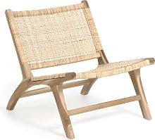 Kave Home - Poltrona Beida in legno massello di