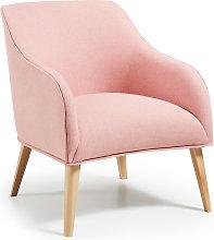 Kave Home - Poltrona Bobly rosa