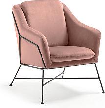 Kave Home - Poltrona Brida velluto rosa