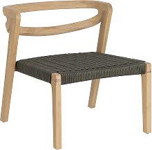 Kave Home - Poltrona Ezilda in legno massello di