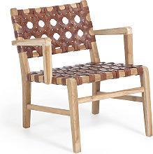 Kave Home - Poltrona Nuru in legno massello di