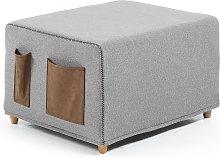 Kave Home - Pouf letto Kos 70 x 60 (180) cm grigio