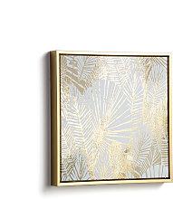 Kave Home - Quadro Imogen 40 x 40 cm dorato