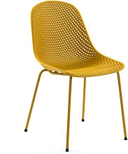 Kave Home - Sedia Quinby giallo