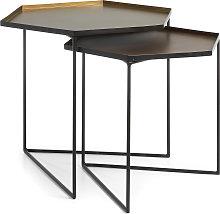Kave Home - Set Vinker C da 2 tavoli estraibili