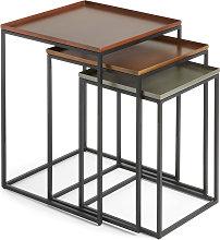 Kave Home - Set Vinker F da 3 tavoli estraibili
