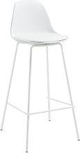 Kave Home - Sgabello Brighter bianco altezza 75 cm