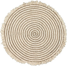 Kave Home - Tappeto rotondo Gisel in juta e cotone