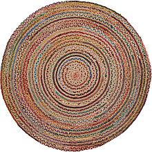 Kave Home - Tappeto Saht Ø 100 cm multicolore