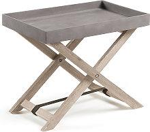 Kave Home - Tavolino pieghevole Merida 55 x 35 cm