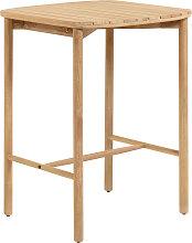Kave Home - Tavolo alto Sheryl in legno massello