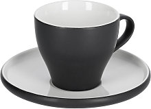 Kave Home - Tazzina da caffè Sadashi con piattino