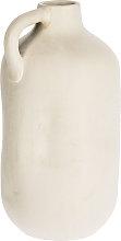 Kave Home - Vaso Caetana in ceramica bianco da 55