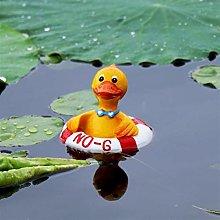 KDHJY Scultura Resina Carino Floating Duck Nuoto