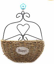 Keemov - Vaso da fiori in rattan, da appendere