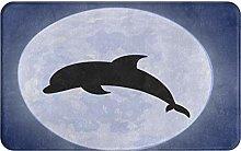 KENADVI Tappetini da bagno per bagno,delfino con